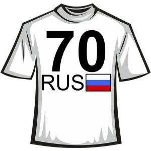 """Футболка """"70RUS"""""""