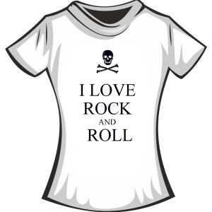 "Футболка ""I love Rock and Roll"""