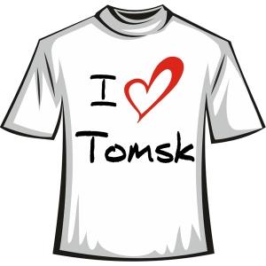 """Футболка """"I love tomsk"""""""