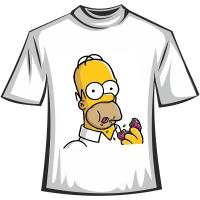 """Футболка """"Гомер и пончик"""""""