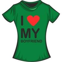 """Футболка """"Я люблю своего парня"""""""
