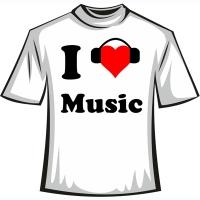 """Футболка """"I love music"""""""
