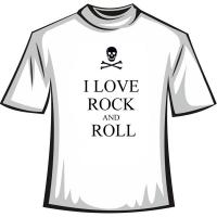 "Футболка ""I love Rock and Roll"""