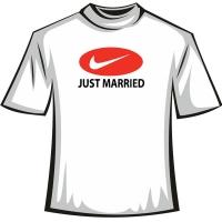 "Футболка ""JUST MARRIED"""