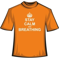 "Футболка ""Stay Calm and Breathing"""