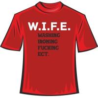 """Футболка """"W.I.F.E"""""""